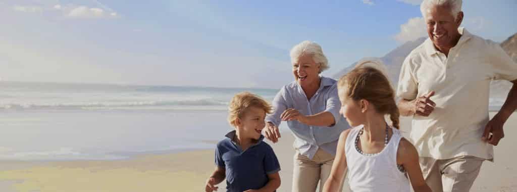 Grandparents at beach